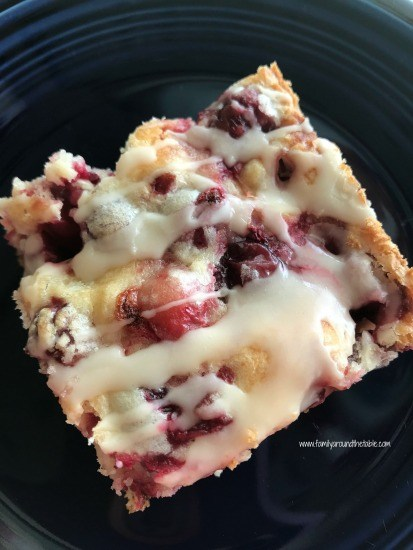 glazed cranberry almond squares from family around the table