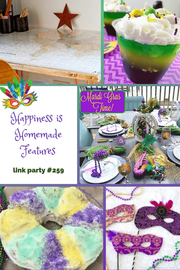 Happiness is Homemade link party features collage