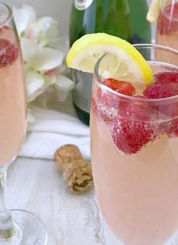 Raspberry Lemon Mimosas - feature