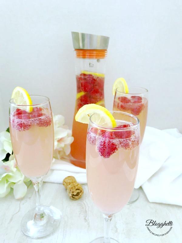 Raspberry Lemon Mimosas - with Grosche
