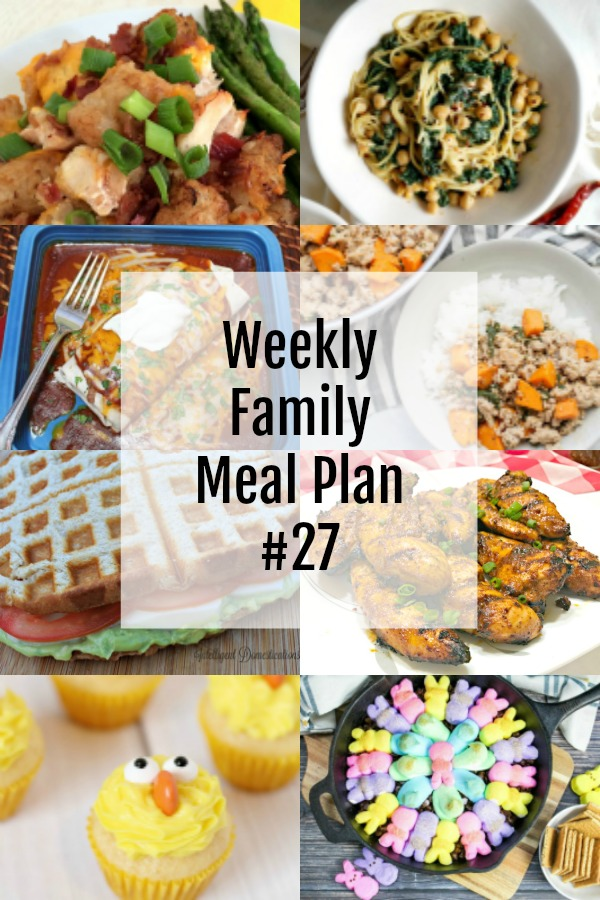 Weekly Family Meal Plan #27 collage