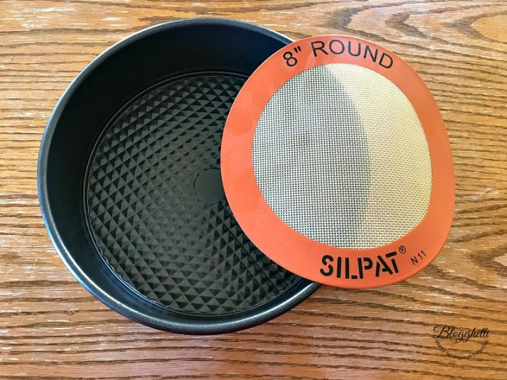 springform pan and round Silpat mat