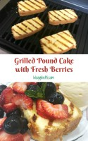 Grilled Pound Cake with Fresh Berries - pin