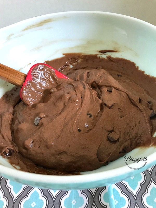 Double Chocolate Muffin batter