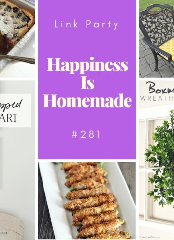 Happiness is Homemade link party feature collage