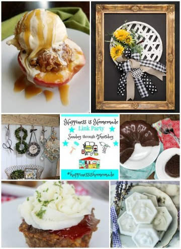 Happiness is Homemade Link Party freatures collage