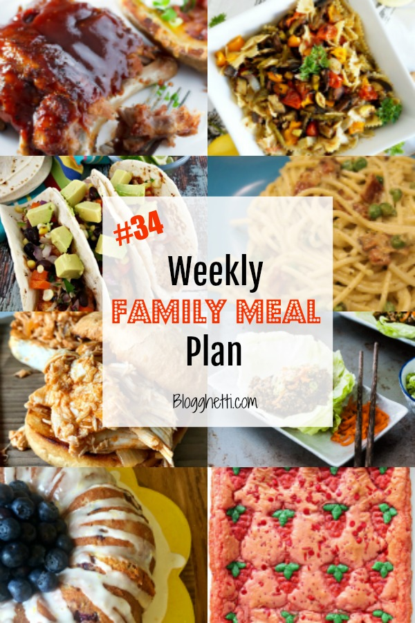Weekly Family Meal Plan 34 - pin