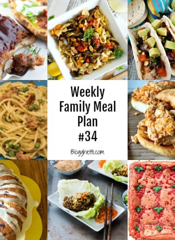 Weekly Family Meal Plan 34 - square