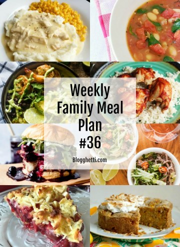 collage of this week's family meal plan