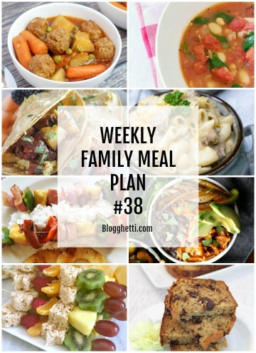 Collage of Weekly Family Meal Plan #38
