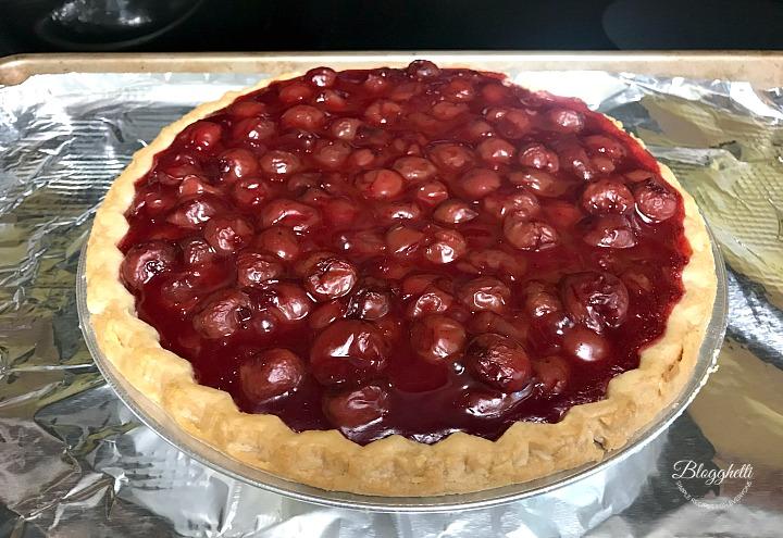 cherry pie ready to bake
