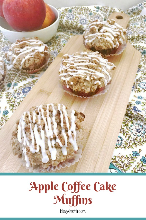 Apple Coffee Cake Muffins #AppleWeek pinterest image