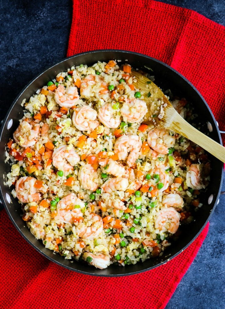 cauliflower shrimp fried rice