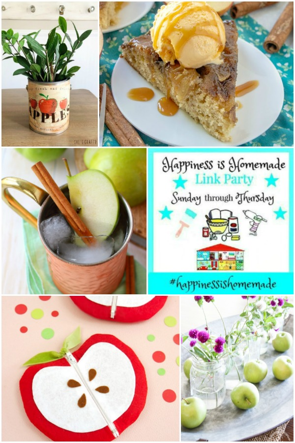 Happiness is Homemade Link Party Features Collage for September 15