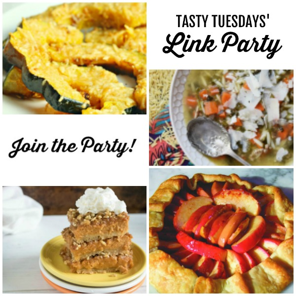 Tasty Tuesdays' Link Party Collage of features for Sept 17 square