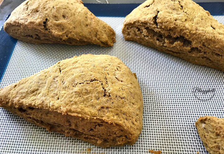 pumpkin spice scones baked and cooling