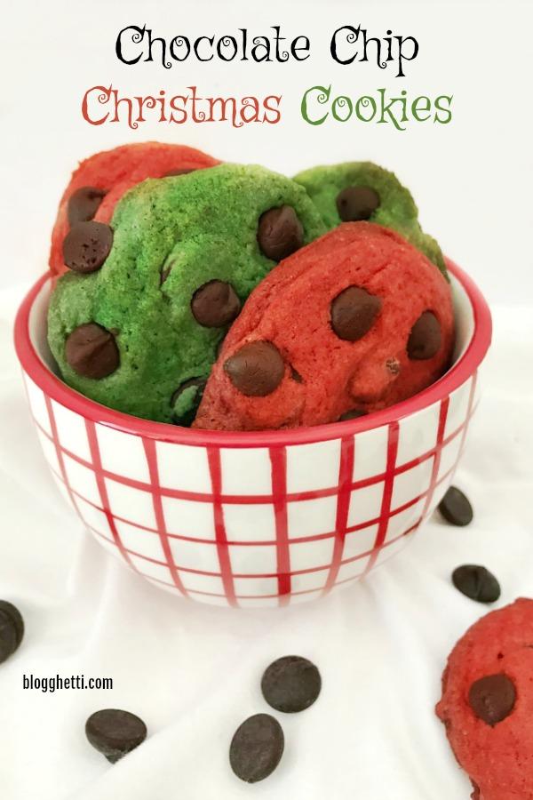 Chocolate Chip Christmas Cookies - hero