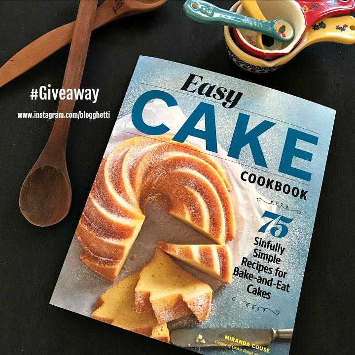 Easy Cake Cookbook giveaway image for Instagram