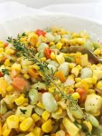 close up of Easy Southern Succotash
