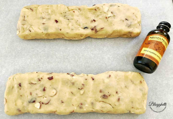 biscotti dough ready to bake