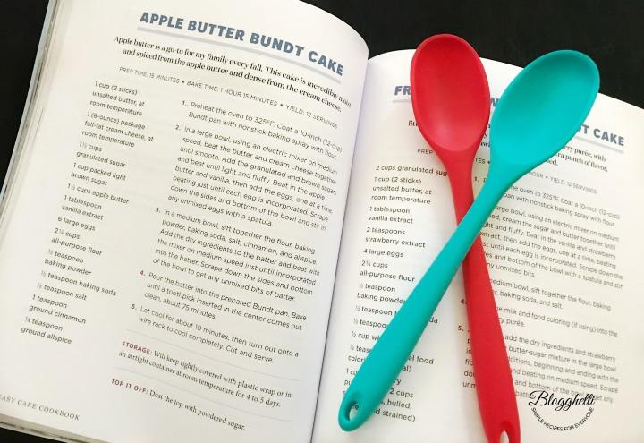 screenshot of inside Easy Cake Cookbook