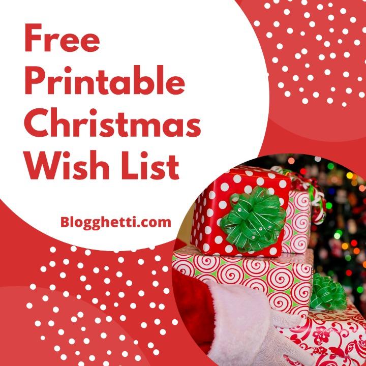 Free Christmas Wish List - square
