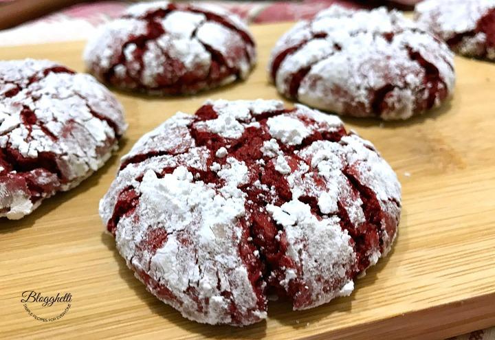 Easy Red Velvet Crinkle Cookies - twitter