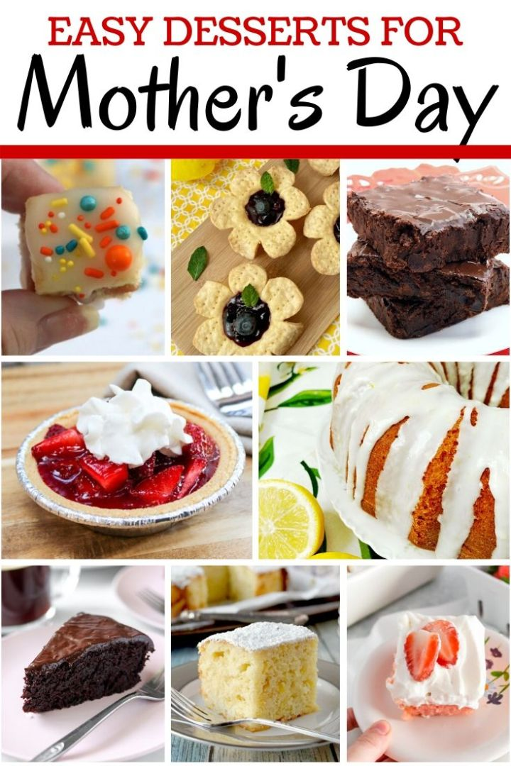 Easy Desserts for Mother's Day collage