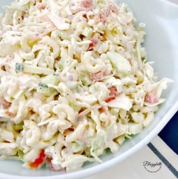 Creamy Macaroni Coleslaw Salad