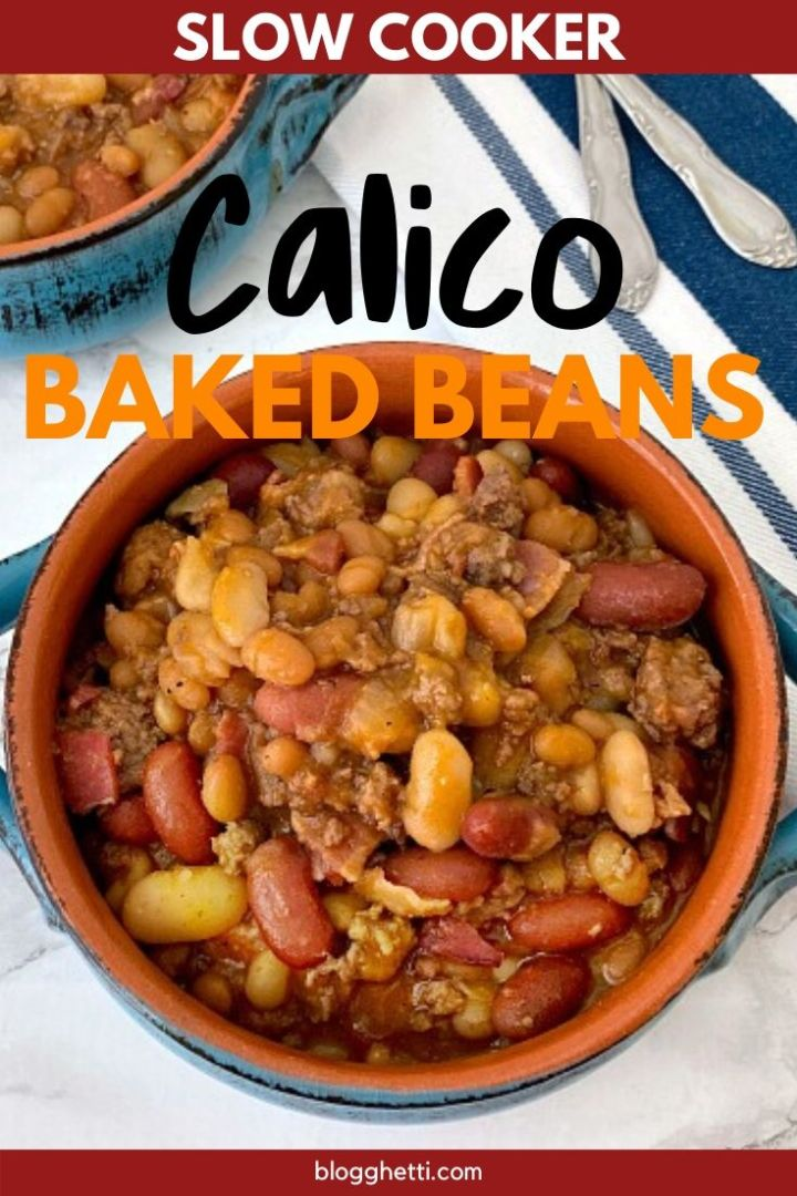 Slow Cooker Calico Baked Beans - pin