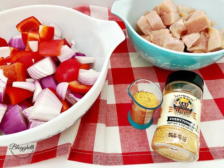 ingredients for chicken kabobs