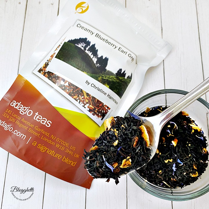 Adagio tea pouch creamy blueberry Earl Grey