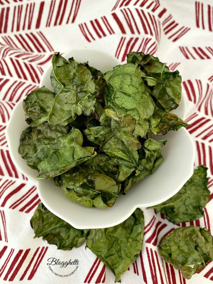 Kale Chips made in the air fryer