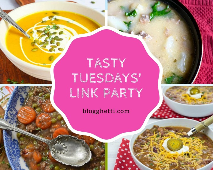 Sept 29 Tasty Tuesdays features collage with text overlay