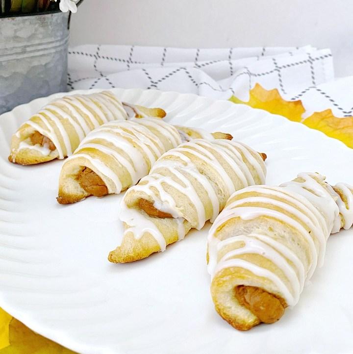 platter with pumpkin pie crescents