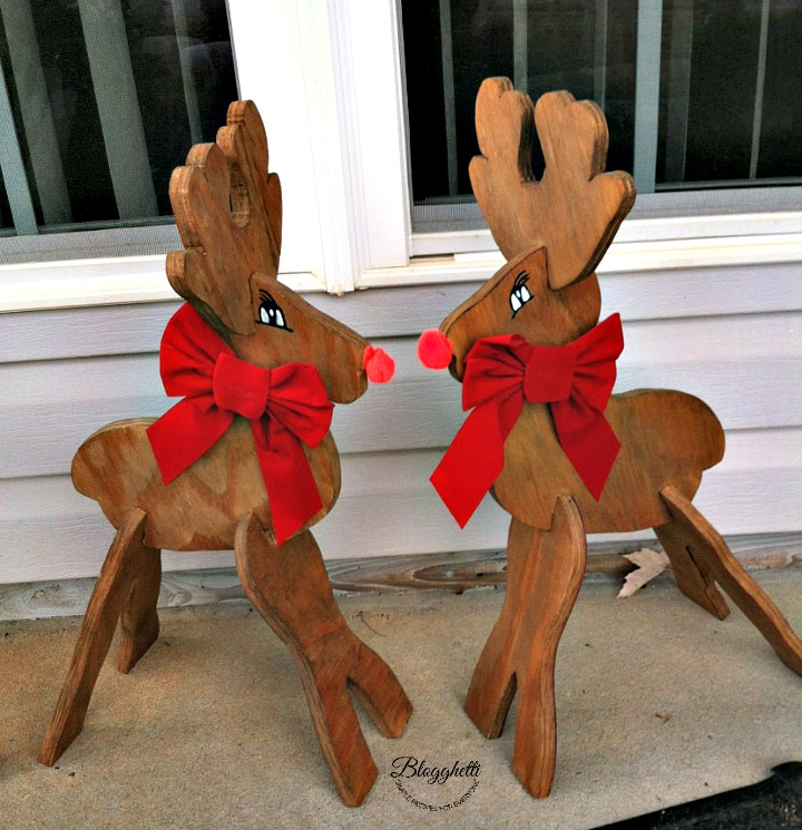 DIY Wooden Rudolph the Red-Nosed Reindeer