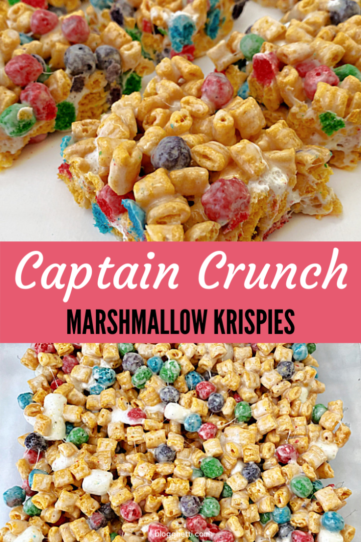 Captain Crunch Marshmallow Krispies with text overlay