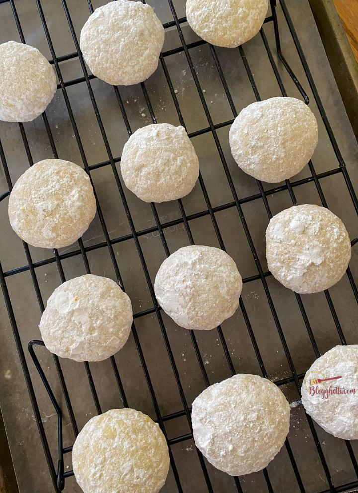 Lemon Cooler Cookies on wire rack