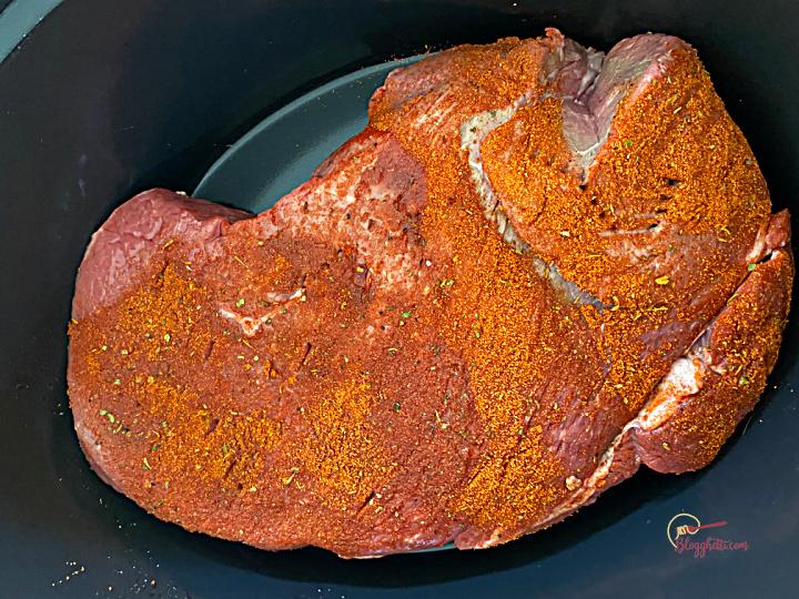 seasoned beef roast in slow cooker