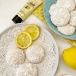 plates with Lemon Cooler cookies on them