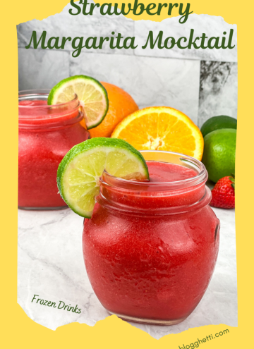 Frozen Strawberry Margarita Mocktail pinterest image