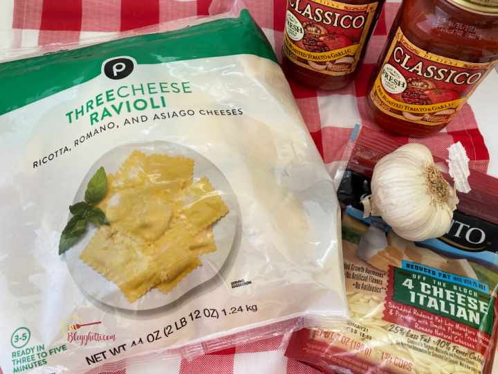 ingredients for slow cooker lazy lasagna