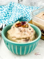 close up of cherry ice cream - homemade