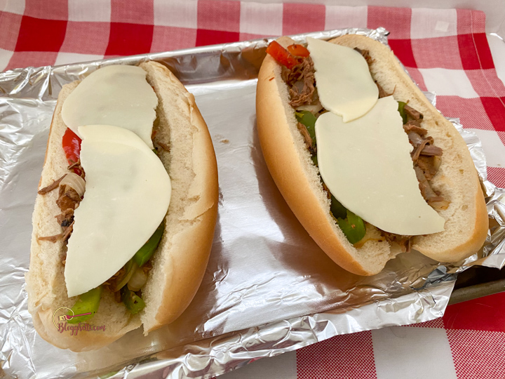 adding provolone cheese to phillys