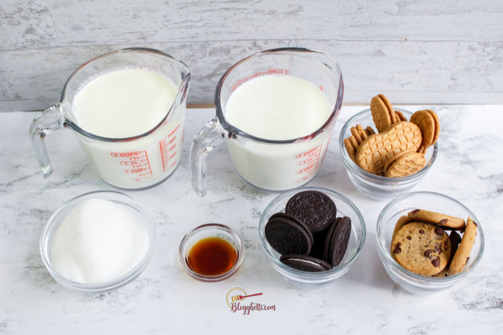 ingredients for ice cream with cookies-2
