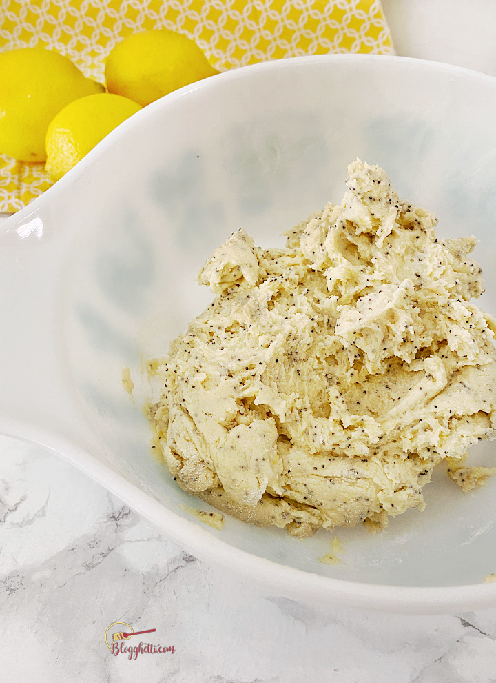 lemon poppy seed cookie dough