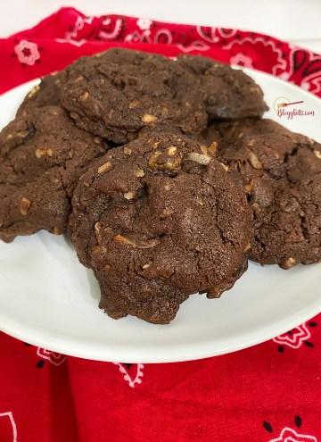 platter of German Chocolate Cookies