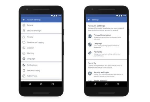 Facebook privacy policy shortcut