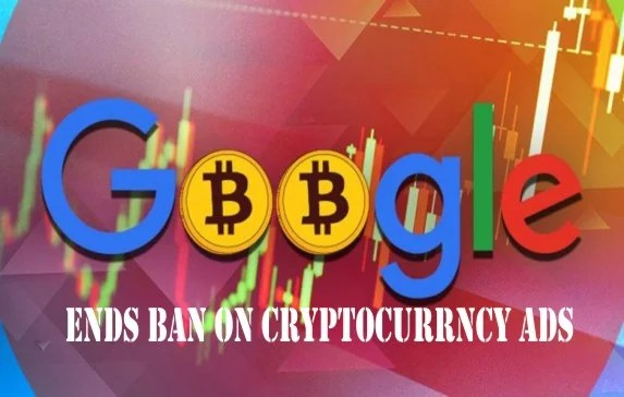 Google To End Ban on Cryptocurrency Ads; See Process Involved