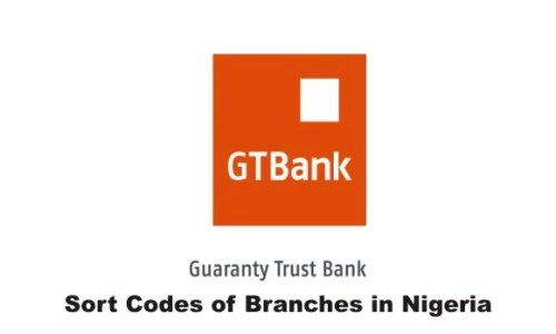 GTBank Sort Codes of Various Branches in Nigeria